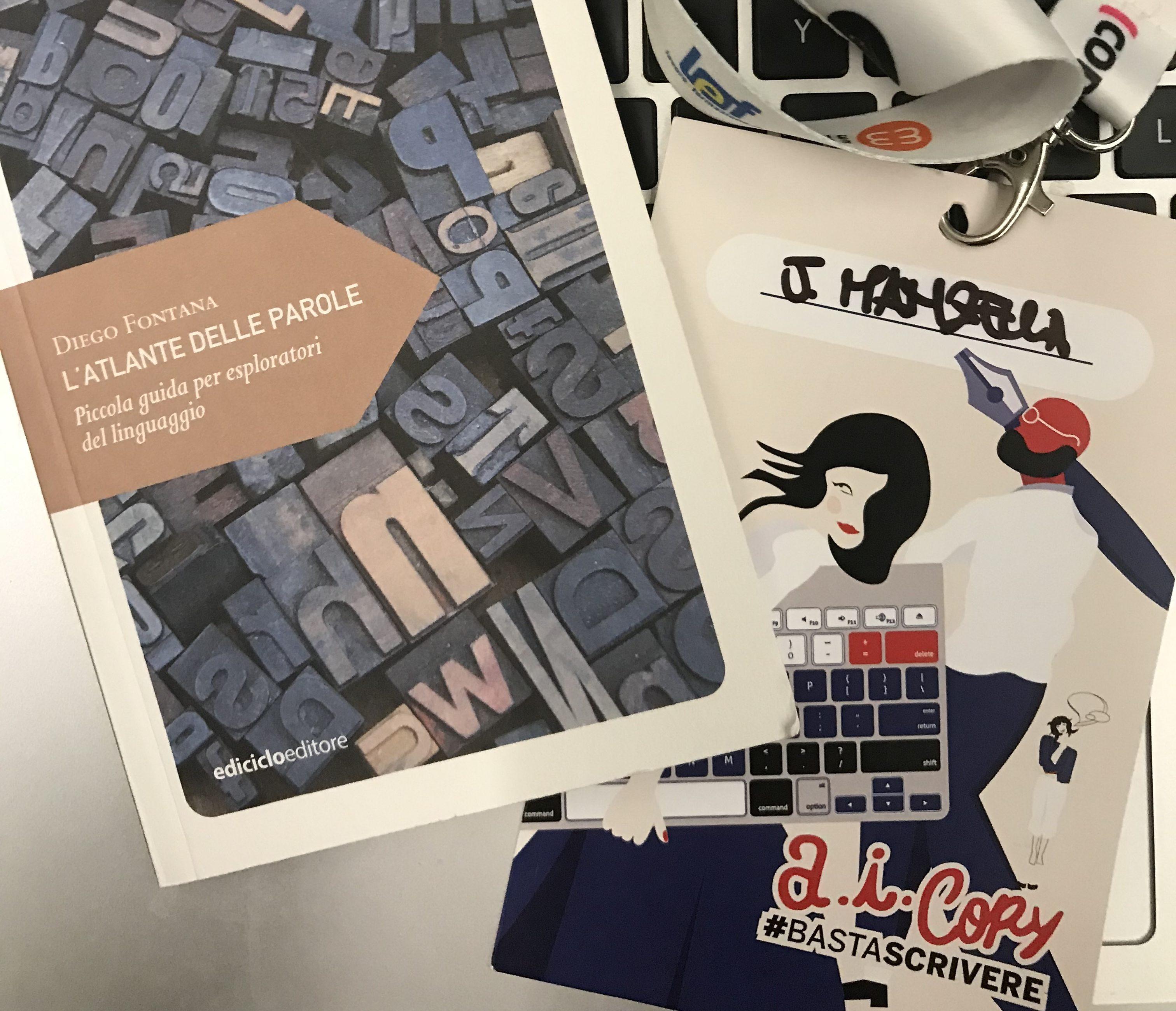 La dedica di Diego Fontana a Basta Scrivere AICopy 2019